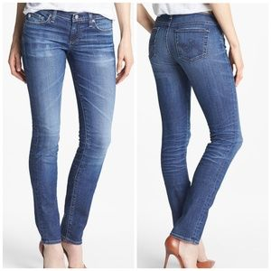 AG Denim Audrey Skinny Straight Raw Hem